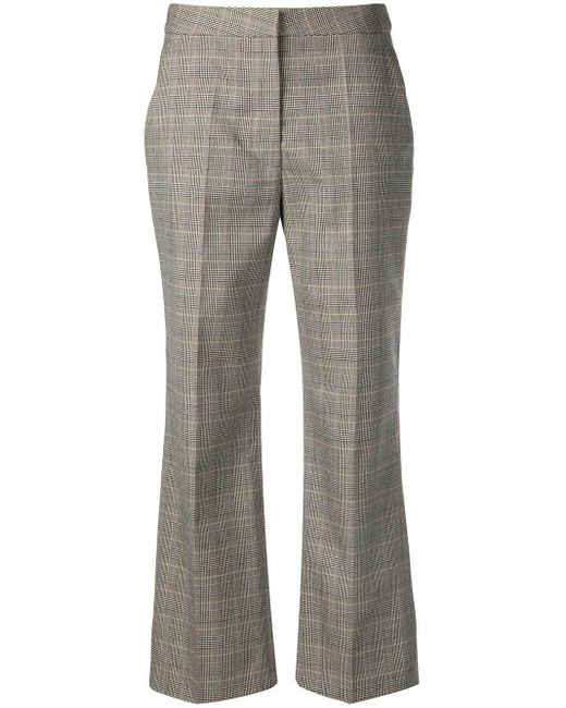 Stella McCartney Black Checked Flare Trousers