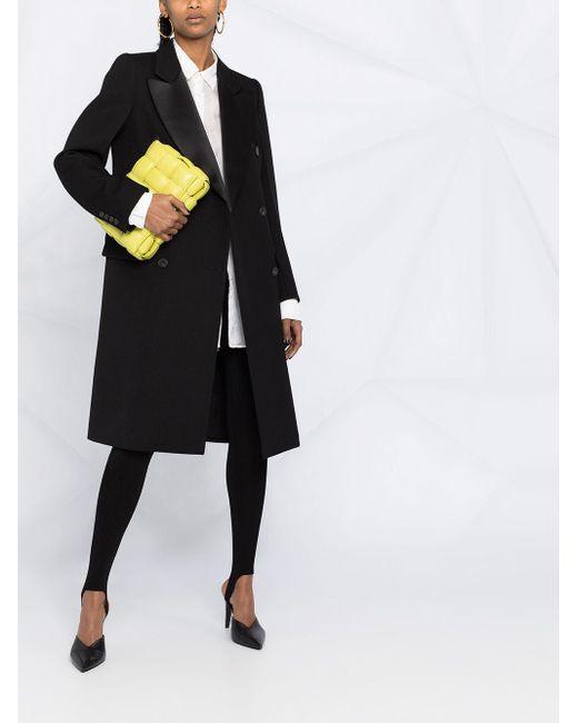 Abrigo midi con doble botonadura Victoria Beckham de color Black