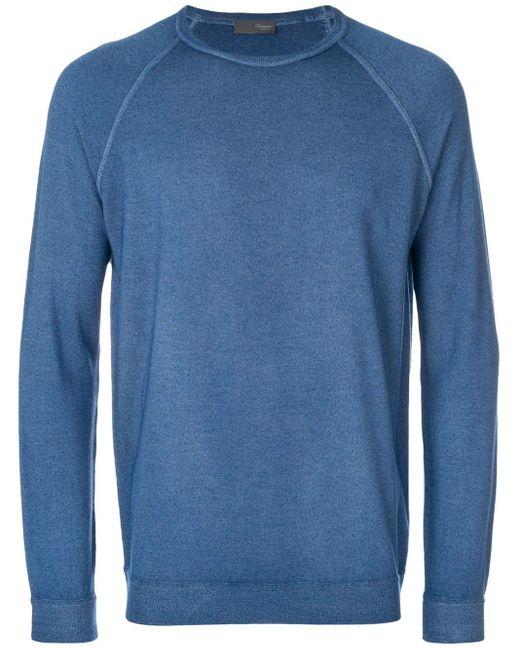 メンズ Drumohr ラグランスリーブ セーター Blue
