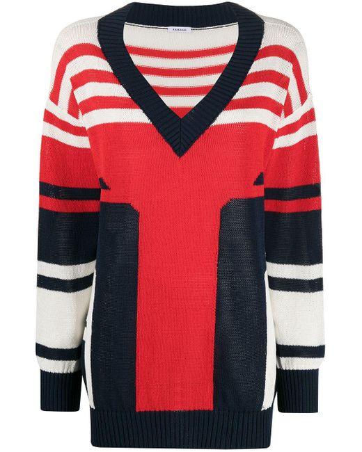 P.A.R.O.S.H. Red Pullover mit V-Ausschnitt