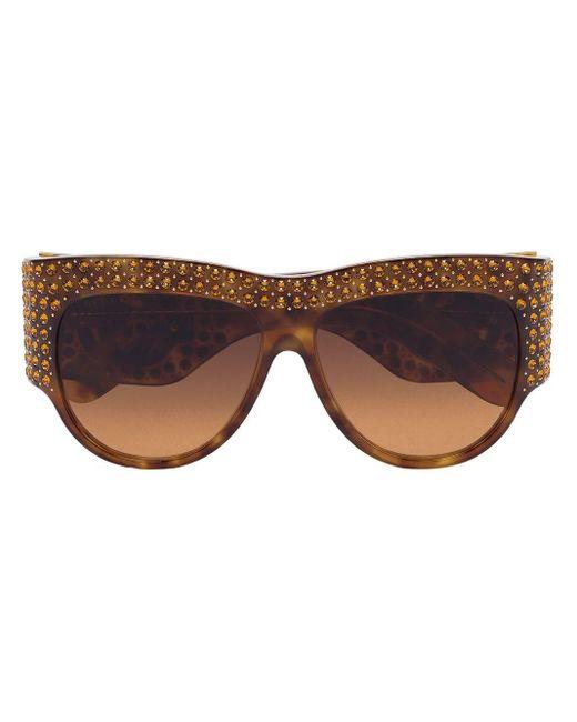 メンズ Gucci オーバーサイズ サングラス Brown