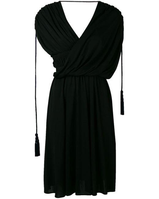 Lanvin アシンメトリー ドレープドレス Black