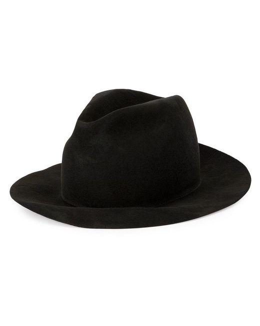Yohji Yamamoto - Gray Wide Brim Hat for Men - Lyst