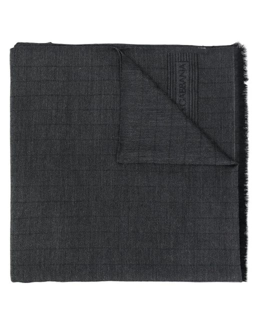 メンズ Dolce & Gabbana フレイドエッジ スカーフ Black