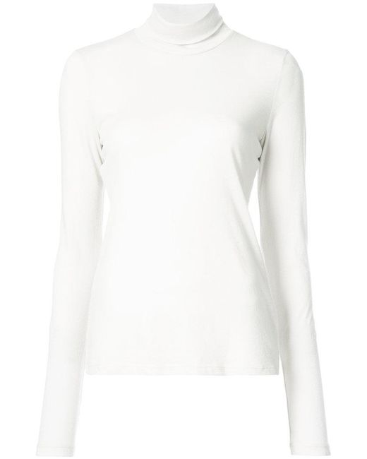 Raquel Allegra   White Long Sleeve Turtleneck Jumper   Lyst