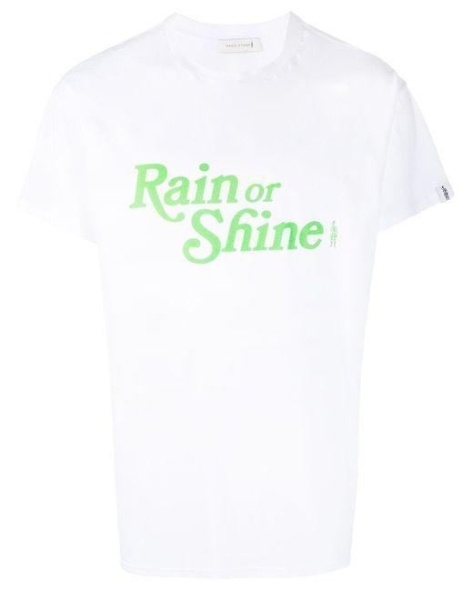 メンズ Mackintosh Rain Or Shine Tシャツ White