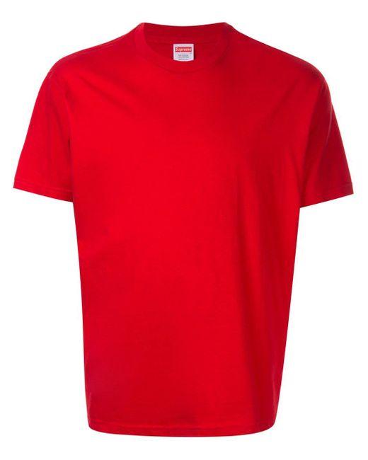 メンズ Supreme Headline Tシャツ Red