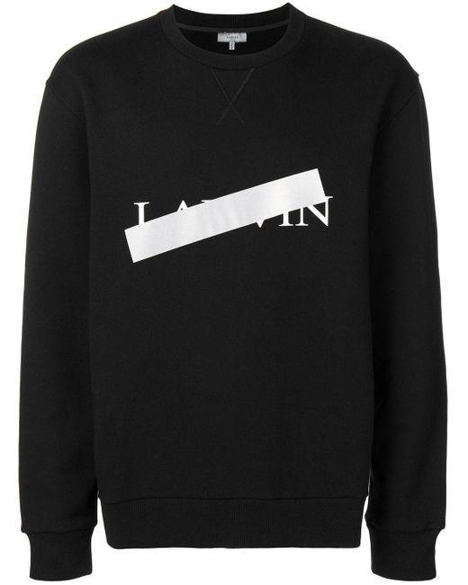 メンズ Lanvin ロゴ スウェットシャツ Black
