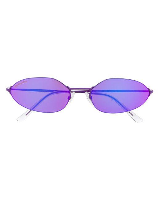 Balenciaga オーバルフレーム サングラス Purple