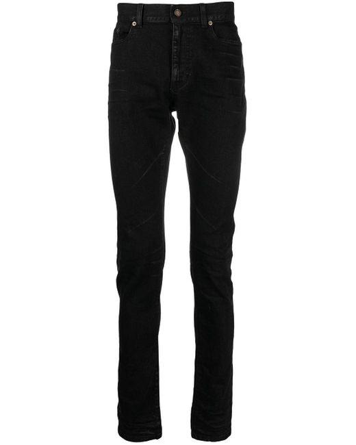 Saint Laurent Tief sitzende Skinny-Jeans in Black für Herren