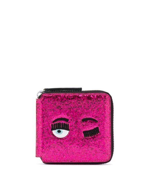 Chiara Ferragni Winking Eye 財布 Pink