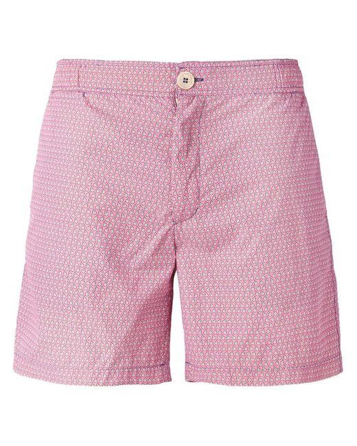 メンズ Fashion Clinic Timeless プリント トランクス水着 Pink
