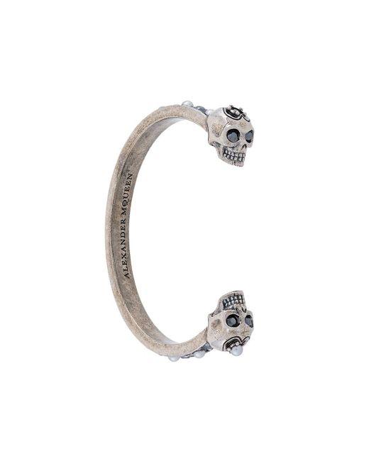 Alexander McQueen Metallic Skull Cuff Bracelet