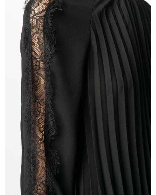 RED Valentino プリーツ シフトドレス Black