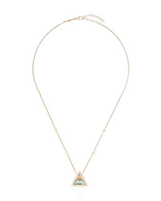 Collier en or rose 14ct à pendentif à ornements Jacquie Aiche en coloris Metallic