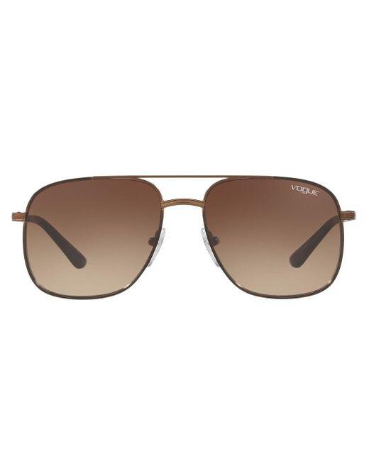 Lunettes de soleil Gigi Hadid capsule à monture aviateur Vogue Eyewear en coloris Brown