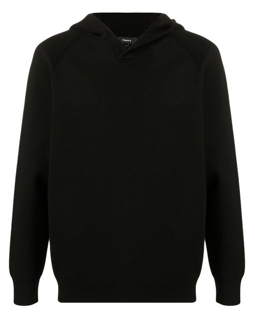 Theory Black Basic Hoodie for men