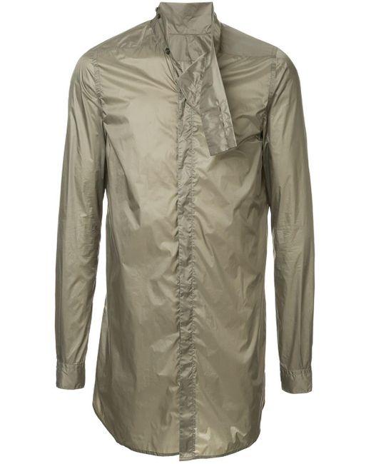 Rick Owens Button Down Shirt in het Green voor heren