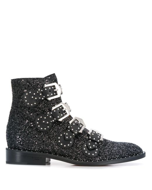 Givenchy バックルブーツ Black