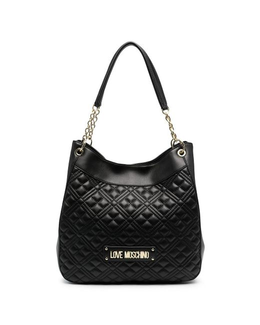 Love Moschino Black Diamond-quilted Shoulder Bag