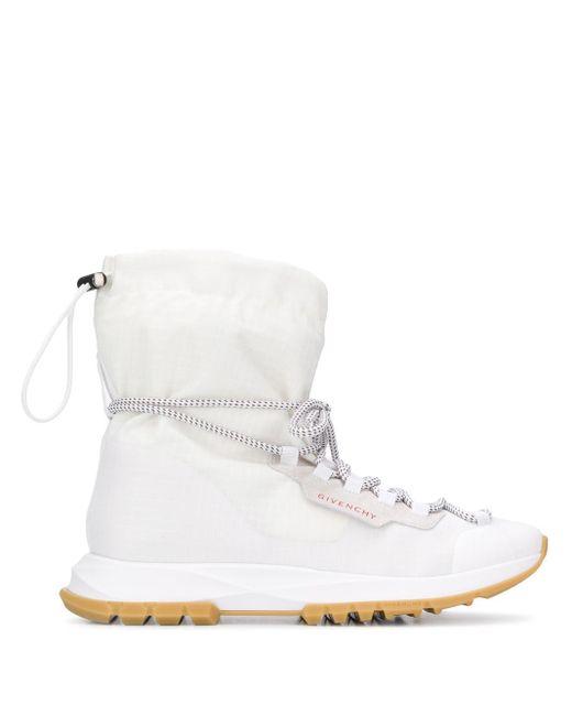 メンズ Givenchy ロゴ ハイカットスニーカー White