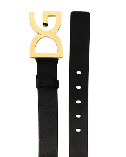 Cinturón con hebilla DG Dolce & Gabbana de hombre de color Black