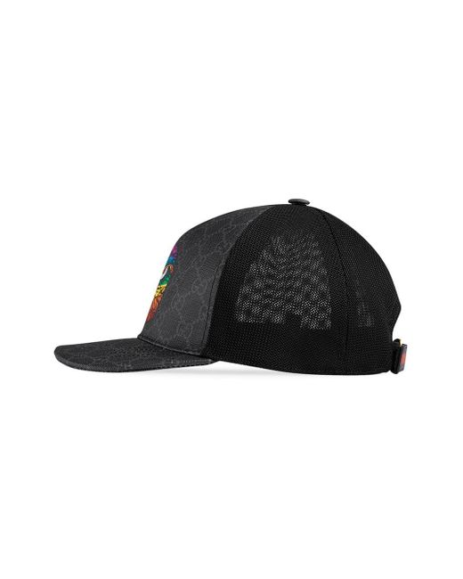 2ab8b852 Gucci GG Supreme Baseball Hat With Eagle in Gray for Men - Save 46 ...