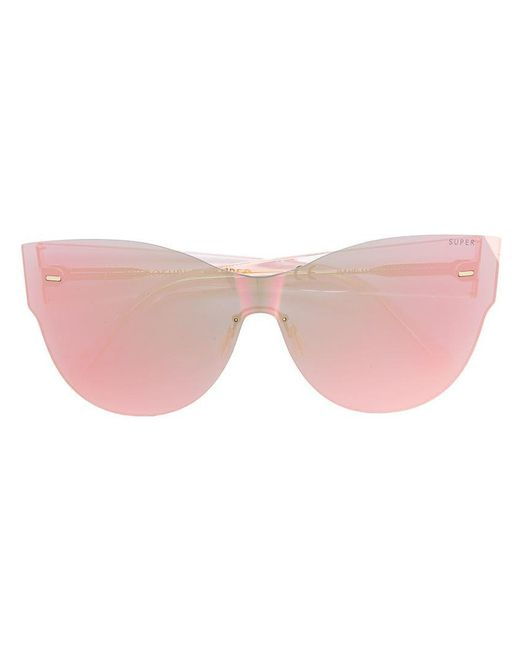 Retrosuperfuture - Pink Cat Eye Sunglasses - Lyst