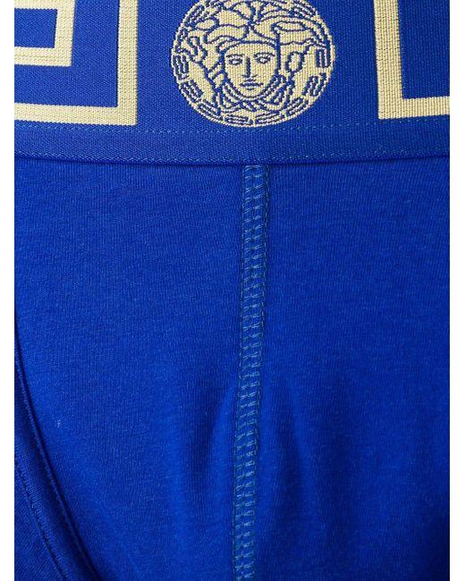 メンズ Versace メデューサ ボクサーパンツ Blue