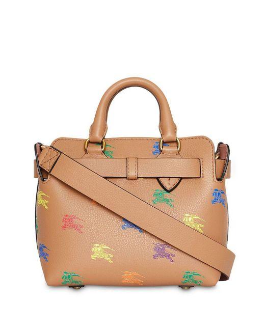 Поясная Мини-сумка С Принтом Рыцарей Burberry, цвет: Brown