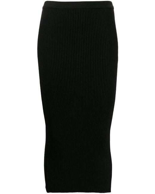 N°21 ペンシルスカート Black