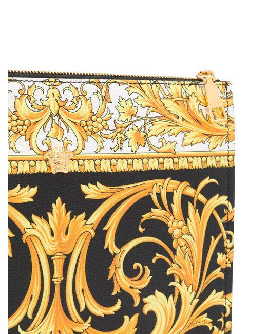 Clutch Barocco con stampa di Versace in Black da Uomo