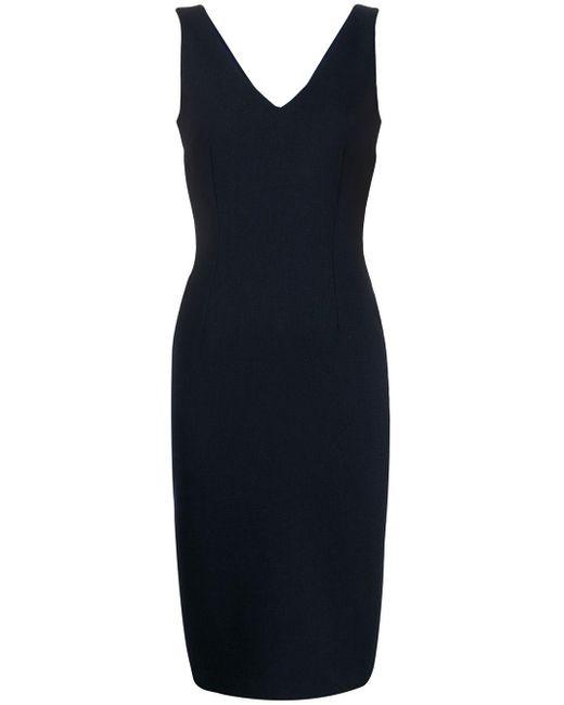 Styland Blue Pencil Midi Dress