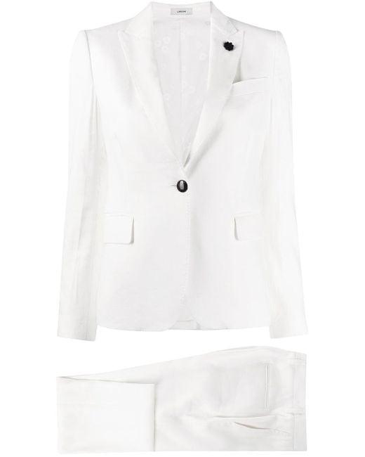 Lardini White Slim-fit Two-piece Suit