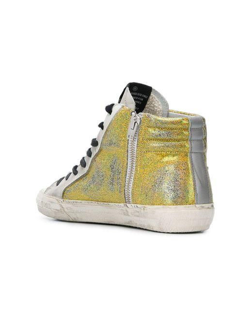 Cedro glitter-panelled sneakers - Metallic Golden Goose 1ccgXKJ