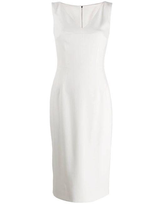 Dolce & Gabbana ノースリーブ Vネックドレス White