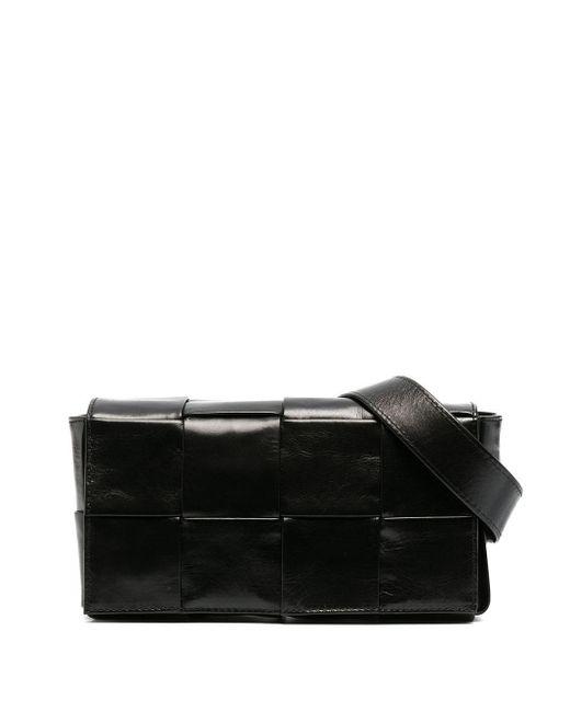 Поясная Сумка С Плетением Intrecciato Bottega Veneta для него, цвет: Black