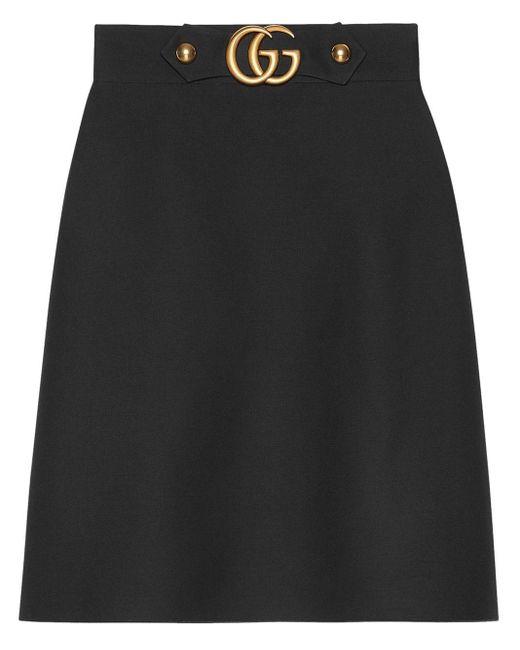 Gucci GG 装飾 ミディスカート Black