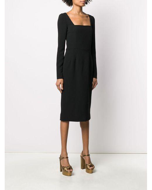 Dolce & Gabbana スクエアネック ドレス Black