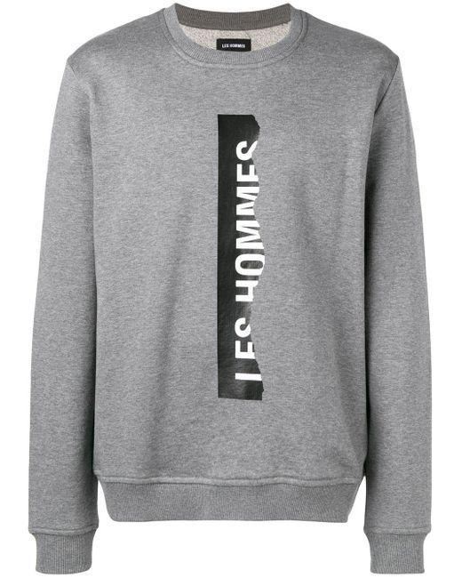 メンズ Les Hommes ロゴ スウェットシャツ Gray
