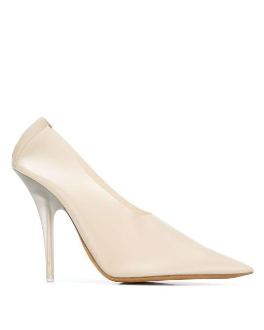 Yeezy Leather Pointed Toe Pumps in
