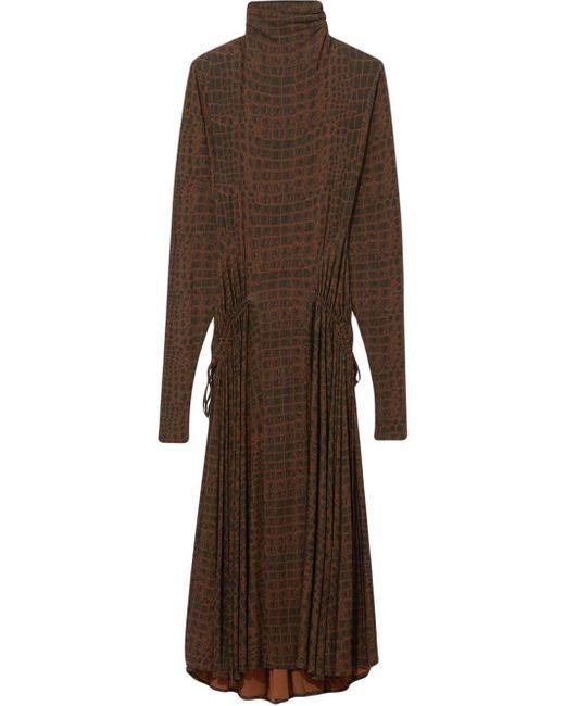 Платье С Длинными Рукавами И Анималистичным Принтом Proenza Schouler, цвет: Brown