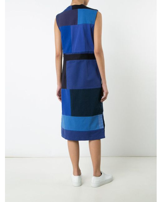 Rodebjer パッチワーク ドレス Blue