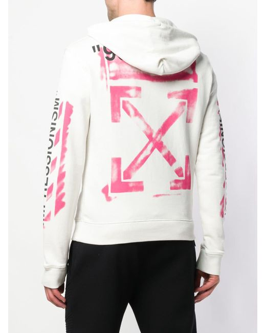 902532208256 ... Off-White c o Virgil Abloh - White Diag Stencil Slim Hoodie for Men ...