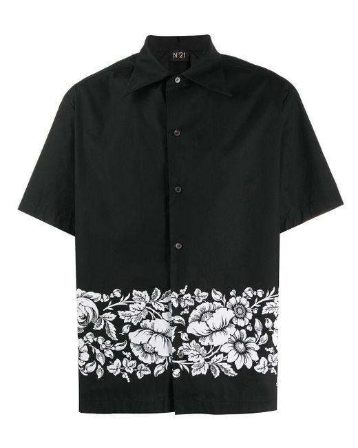 メンズ N°21 フローラル シャツ Black