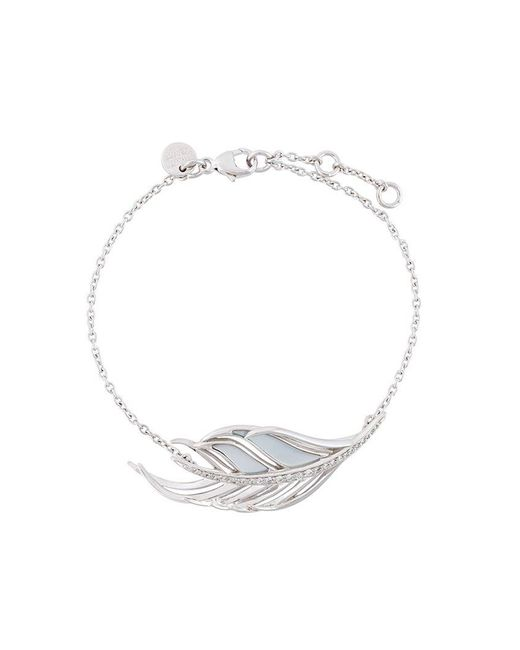 Shaun Leane | Metallic 'white Feather' Diamond Bracelet | Lyst