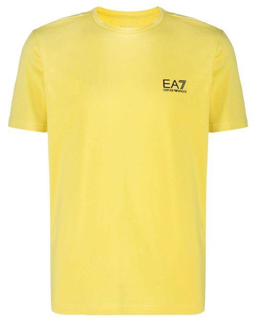 メンズ EA7 ロゴ Tシャツ Yellow