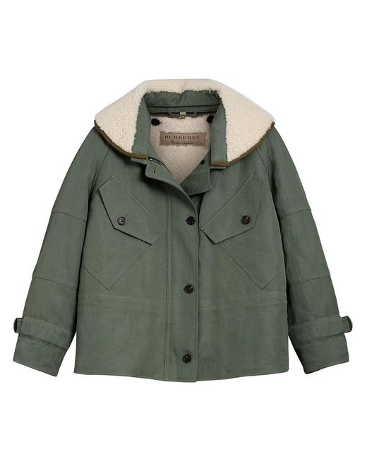 Burberry - Green Oversized Jacket - Lyst