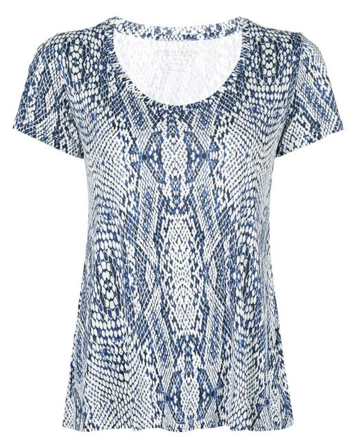 Majestic Filatures シルク Tシャツ Blue