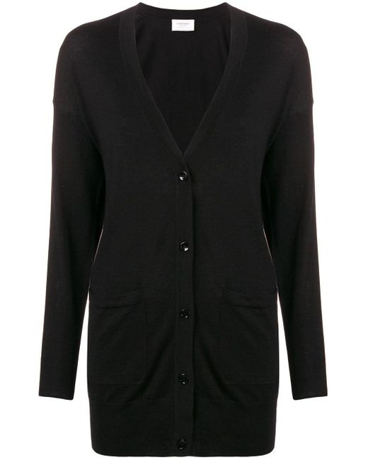 Snobby Sheep Long Buttoned Cardigan Black